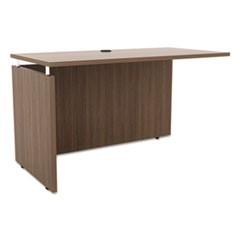 Sedina Series Reversible Return/Bridge, 47 1/4w x 23 5/8d x 29 1/2h, Walnut