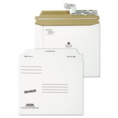 Economy Disk/CD Mailer, Square Flap, Self-Adhesive Closure, 7.5 x 6.06, White, 100/Carton