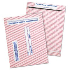 Gray/Red Paper Gummed Flap Personal & Confidential Interoffice Envelope, #97, 10 x 13, Gray/Red, 100/Box