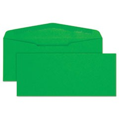 Colored Envelope, #10, Bankers Flap, Gummed Closure, 4.13 x 9.5, Green, 25/Pack