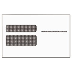 Double Window Tax Form Envelope/W2 Laser Forms,5 5/8 x 9, 50/PK