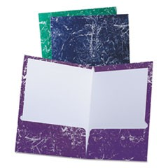 Marble High Gloss Portfolio, Charcoal/Green/Navy/Purple