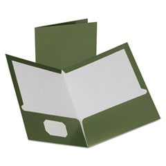 Two-Pocket Laminated Folder, 100-Sheet Capacity, Metallic Green