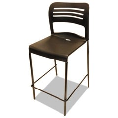 Counter Height Stacking Stool, Black, 2/Carton