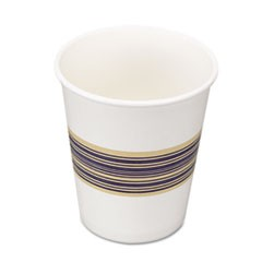Paper Hot Cups, 8oz, Blue/Tan, 50/Bag, 20 Bags/Carton