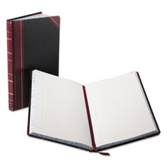Record/Account Book, Black/Red Cover, 300 Pages, 14 1/8 x 8 5/8
