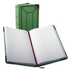 Record/Account Book, Record Rule, Green/Red, 500 Pages, 12 1/2 x 7 5/8