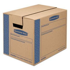 SmoothMove Prime Small Moving Boxes, 16l x 12w x 12h, Kraft/Blue, 15/CT