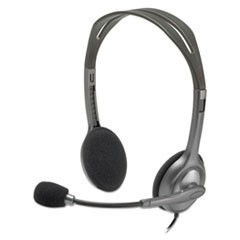 H111 Binaural Over-the-Head, Stereo Headset, Black/Silver