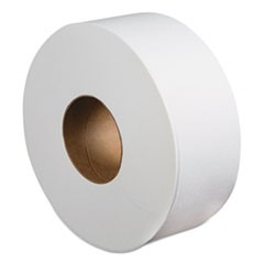 "Jumbo Roll Bathroom Tissue, Septic Safe, 2-Ply, White, 3.4"" x 1000 ft, 12 Rolls/Carton"