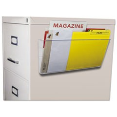 Unbreakable Magnetic Wall File, Letter/Legal, 16 x 7, Single Pocket, Clear