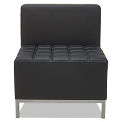 QUB Series Armless L Sectional, 26 3/8 x 26 3/8 x 30 1/2, Black