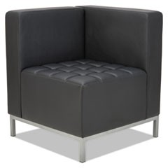 QUB Series Corner Sectional, 26 3/8 x 26 3/8 x 30 1/2, Black