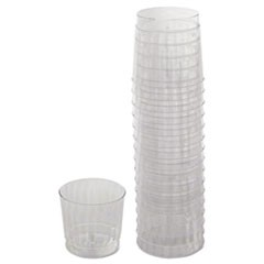 Classicware Tumblers, 9 oz, Plastic, Clear, Rocks Glass, 16/Bag, 15 Bag/Carton