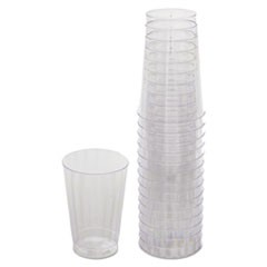 Classicware Tumblers, 12 oz, Plastic, Clear, Tall, 16/Bag, 240/Carton