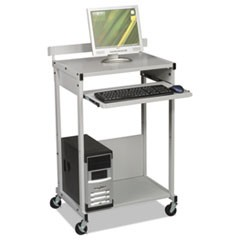 Max Stax Dual Purpose Printer Stand, Three-Shelf, 25w x 20d x 42-1/2h, Gray
