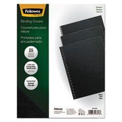 Futura Binding System Covers, Square Corners, 11 x 8 1/2, Black, 25/Pack