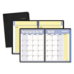 QuickNotes Monthly Planner, 6 7/8 x 8 3/4, Black, 2018