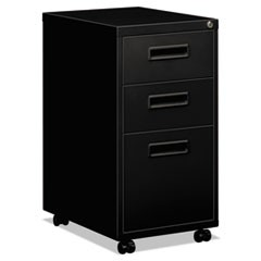 "Embark Series Mobile Box/Box/File Pedestal File w/""M"" Pull Drawers, 22d, Black"