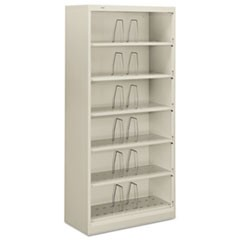 600 Series Steel Open Shelving, Six-Shelf, 36 x 16-3/4 x 75-7/8, Light Gray