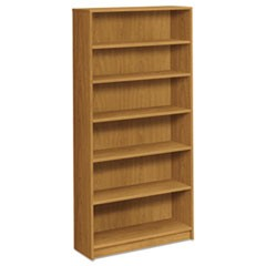 1870 Series Bookcase, Six Shelf, 36w x 11 1/2d x 72 5/8h, Harvest