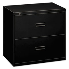 400 Series Two-Drawer Lateral File, 30w x 19-1/4d x 28-3/8, Black