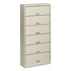 600 Series Six-Shelf Steel Receding Door File, 36 x 13-3/4 x 75-7/8,Light Gray