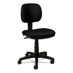 VL610 Series Swivel Task Chair, Black Fabric/Black Frame