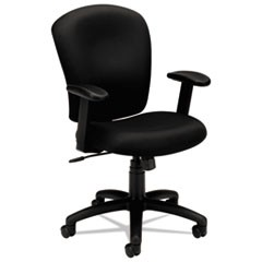 HVL220 Mid-Back Task Chair, Supports up to 250 lbs., Black Seat/Black Back, Black Base
