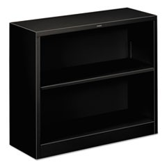 Hon Metal Bookcase, Two-Shelf, 34-1/2W X 12-5/8D X 29H, Black