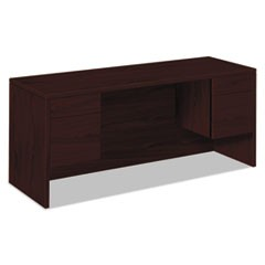 10500 Series Kneespace Credenza With 3/4-Height Pedestals, 60w x 24d, Mahogany