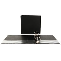 "Economy Non-View Round Ring Binder, 3"" Capacity, Black"