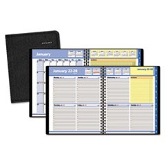 QuickNotes Weekly/Monthly Appointment Book, 8 x 9 7/8, Black, 2018