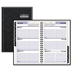 Hardcover Weekly Appointment Book, 4 7/8 x 8, Black, 2018
