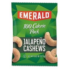 100 Calorie Pack Nuts, Jalapeno Cashews, 0.62 oz Pack, 7/Box