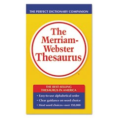 The Merriam-Webster Thesaurus, Dictionary Companion, Paperback, 800 Pages