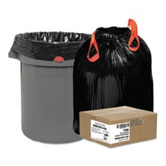 "Heavy-Duty Trash Bags, 33 gal, 1.2 mil, 33.5"" x 38"", Black, 150/Box"