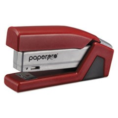 InJoy Spring-Powered Compact Stapler, 20-Sheet Capacity, Red