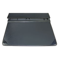 Executive Desk Pad Organizer with Storage, Matte Finish, 22 x 17, Black
