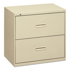 400 Series Two-Drawer Lateral File, 30w x 18d x 28h, Putty