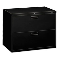 500 Series Two-Drawer Lateral File, 36w x 18d x 28h, Black