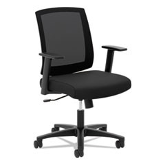 Torch Mesh Mid-Back Task Chair, Supports up to 250 lbs., Black Seat/Black Back, Black Base