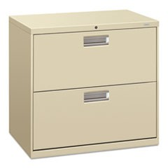 600 Series Two-Drawer Lateral File, 30w x 19-1/4d, Putty