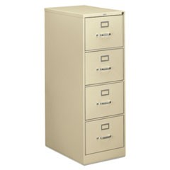 310 Series Four-Drawer Full-Suspension File, Legal, 18.25w x 26.5d x 52h, Putty