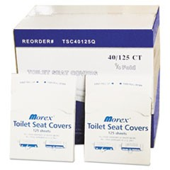 Quarter-Fold Toilet Seat Covers, White, 14 1/2 x 16 1/2, 5000/Carton