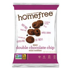 Gluten Free Double Chocolate Chip Mini Cookies, 0.95 oz Pack, 30/Carton
