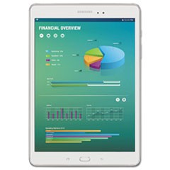 "Galaxy Tab A 8.0"" Tablet, 16 GB, Wi-Fi, White"