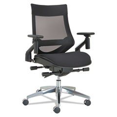 EB-W Series Pivot Arm Multifunction Mesh Chair, Black/Aluminum Frame