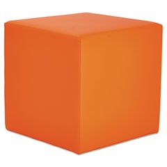 Alera WE Series Collaboration Seating, Cube Bench, 18 x 18 x 18, Mandarin