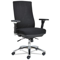 Alera EY Series Mesh Multif Chair, 24-3/8w x 23-1/4d x 42-1/2 to 47-1/4h, Black